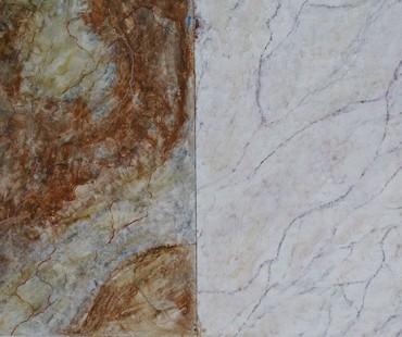 Marmo Rosso Imperiale e Bianco di Carrara